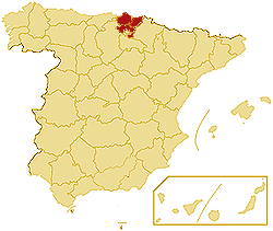 LatLon Coordinates Autonomous community Basque Country