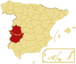 Autonomous community Extremadura  GuideSpaincom